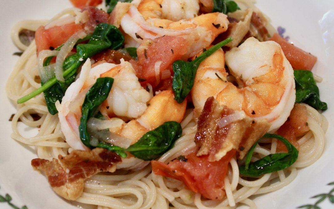 Shrimp Saute' with Bacon